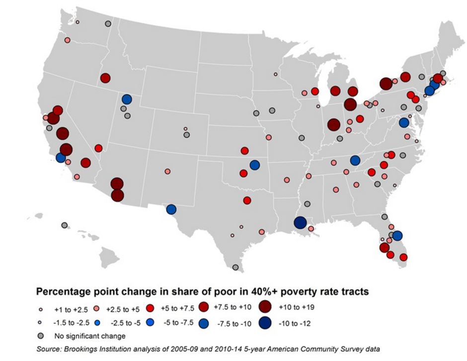 Brookings Institution Map of The Growth of Concentrated Poverty ...